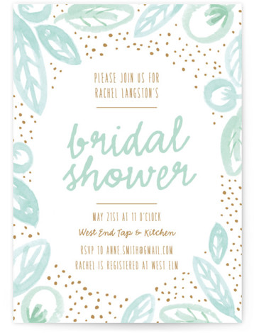 Lakeside Floral Bridal Shower Invitations