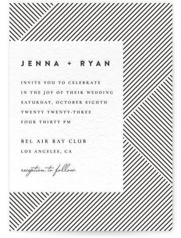 Lined Letterpress Wedding Invitations