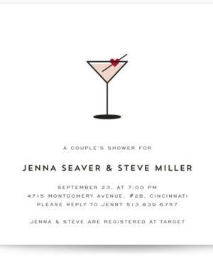 Love Cocktail Bridal Shower Invitations