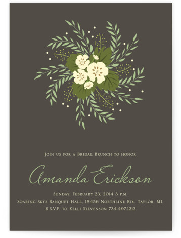 Love In A Spiral Bridal Shower Invitations