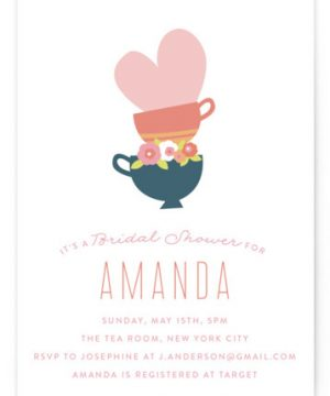 Love Like Tea Bridal Shower Invitations
