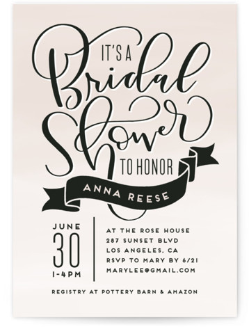 Lovely Bridal Shower Invitations