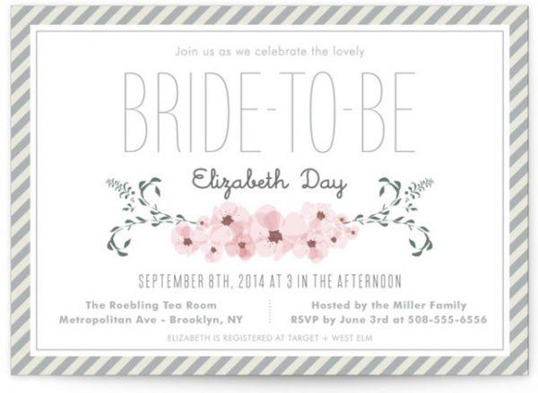 Lovely Day Bridal Shower Invitations