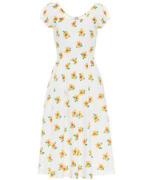 Mariette floral cotton midi dress