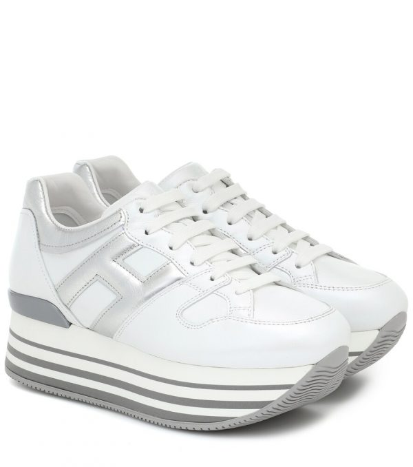 Maxi H222 leather platform sneakers