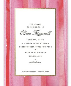Mercer Street Foil-Pressed Bridal Shower Invitations