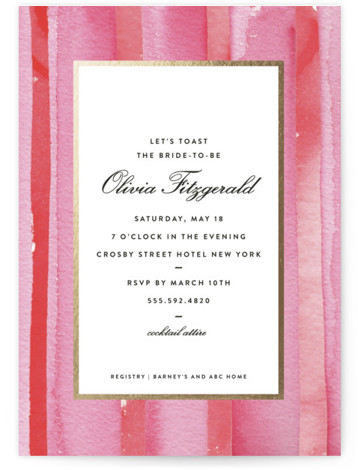 Mercer Street Foil-Pressed Bridal Shower Invitations