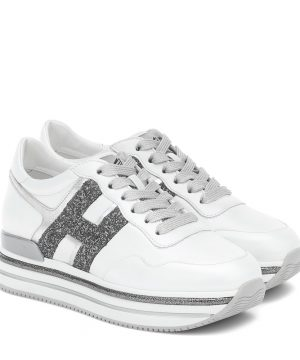 Midi Platform leather sneakers