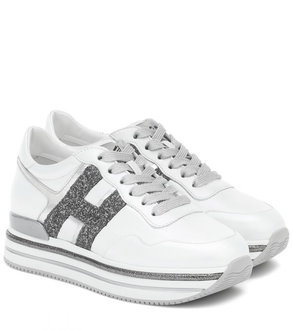Midi Platform leather sneakers