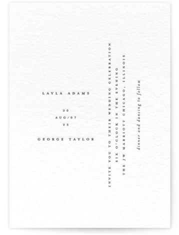Minimal Letterpress Wedding Invitations