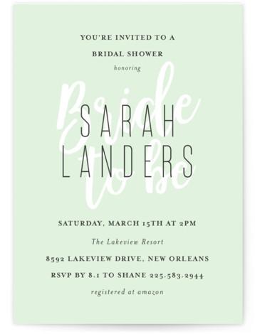 Modern Bride Bridal Shower Invitations