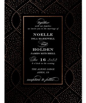 Monaco Foil-Pressed Wedding Invitations