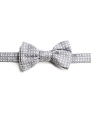 Neat Square Silk Bow Tie