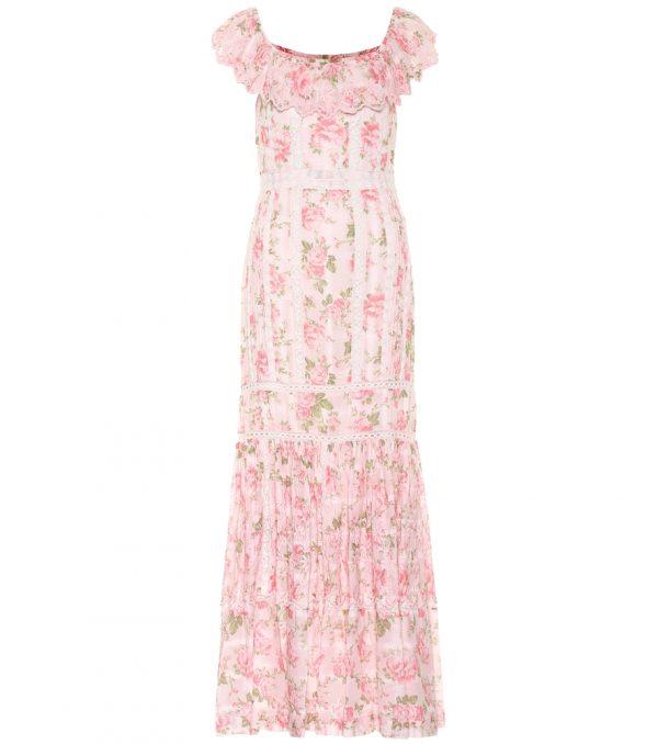 Niko floral cotton maxi dress