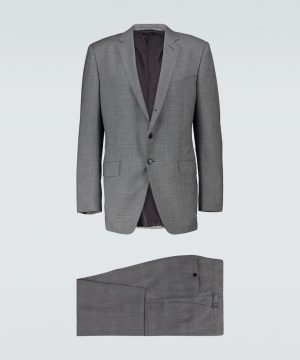 O'Connor checked wool suit