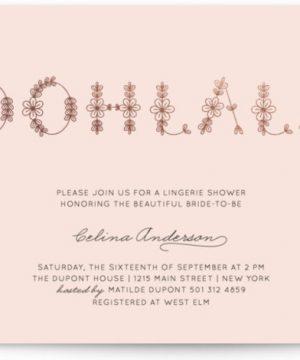 Ohlala Chic Foil-Pressed Bridal Shower Invitations