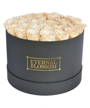 One Year Roses Extra Large Round Box