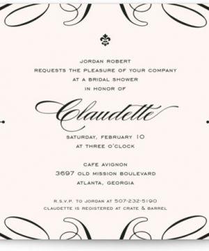 Opera Bridal Shower Invitations