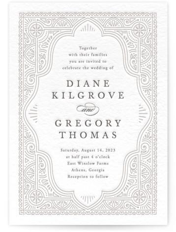 Ornamental Letterpress Wedding Invitations