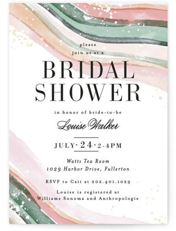 Painted Layers Splash Bridal Shower Invitations