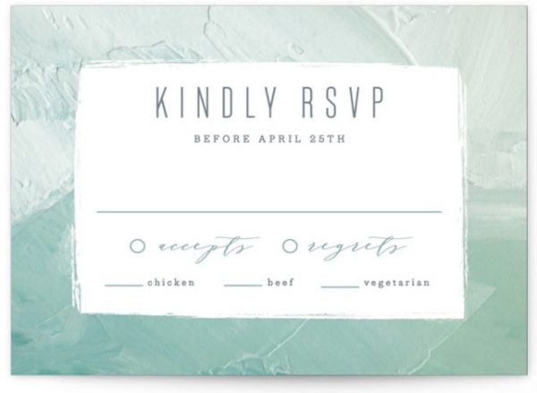 Painted Sea RSVP Cards