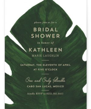 Palm Bridal Shower Invitations