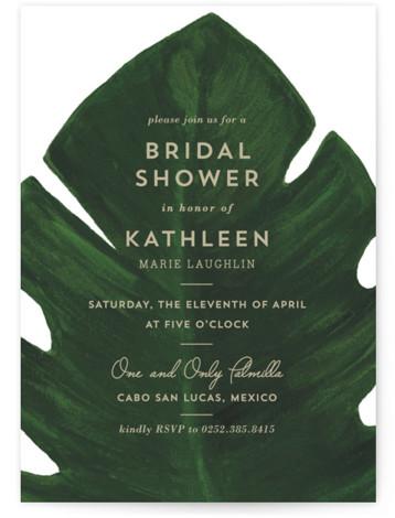 Palm Bridal Shower Invitations