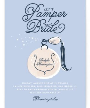 Pamper Bridal Shower Invitations