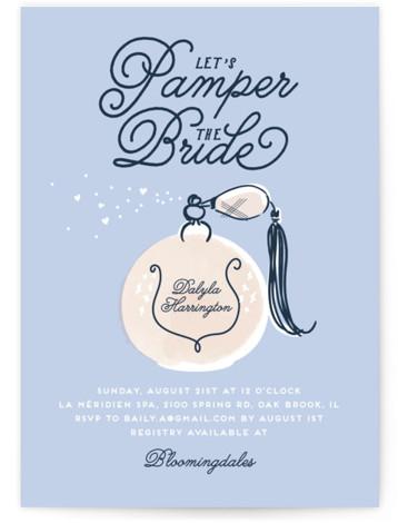 Pamper Bridal Shower Invitations
