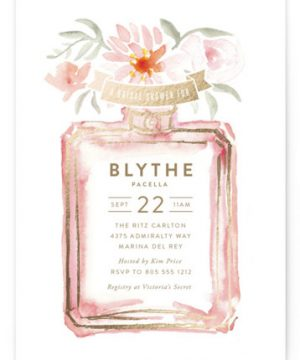 Parfumerie Foil-Pressed Bridal Shower Invitations