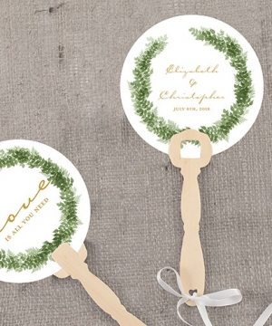 Personalized Love Wreath Hand Fan