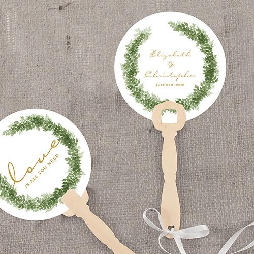 Personalized Love Wreath Hand Fan