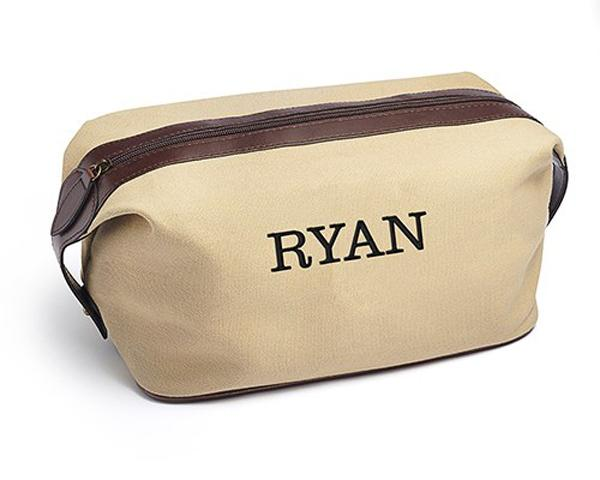 Personalized Rugged Canvas Toiletry Bag
