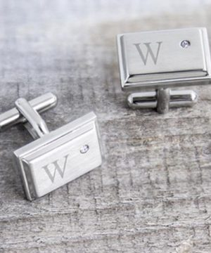 Personalized Ziron Jewel Stainless Steel Cuff Links/Groomsmen Gifts/My Wedding Favors
