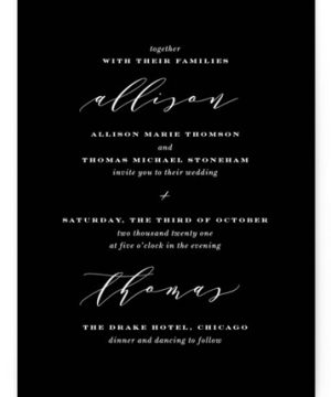 Perspective Wedding Invitations