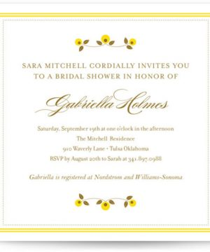 Petite Fleur Bridal Shower Invitations