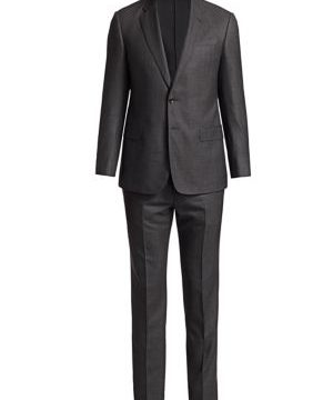 Pin Dot Virgin Wool Suit