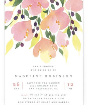 Pink Blossoms Bridal Shower Invitations