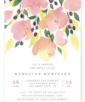 Pink Blossoms Bridal Shower Invitations