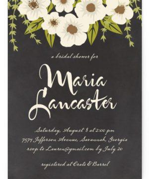 Plentiful Blossoms Bridal Shower Invitations