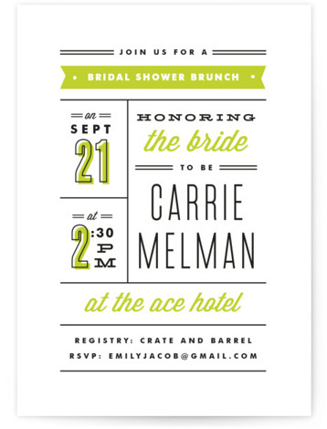 Posted Bridal Shower Invitations