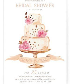 Princess Cake Bridal Shower Invitations