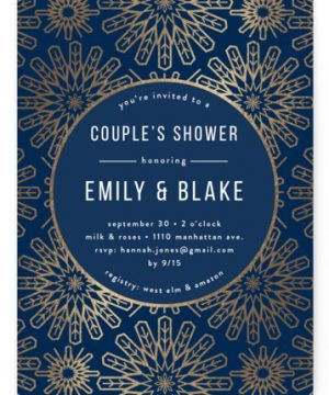 RADIAL Foil-Pressed Bridal Shower Invitations