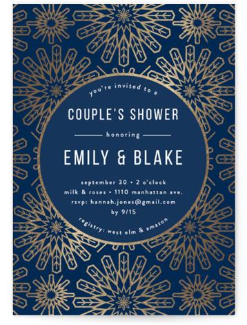 RADIAL Foil-Pressed Bridal Shower Invitations