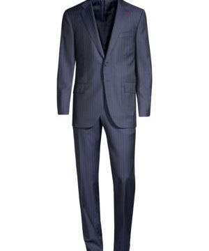 Regular-Fit Pinstripe Wool Suit