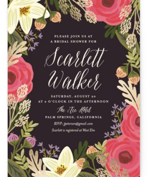 Rhapsody Foil-Pressed Bridal Shower Invitations