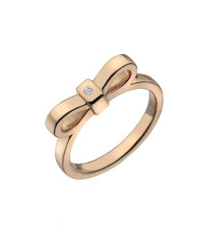 Ribbon Ring Rose Gold Plate
