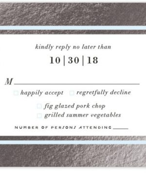 Romantic Stripes Foil-Pressed RSVP CardsP Cards