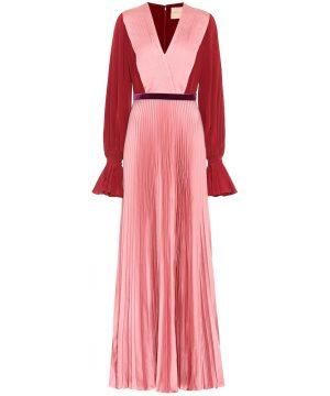 Rora silk-crêpe dress