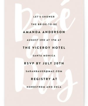 Rose All Day Bridal Shower Invitations